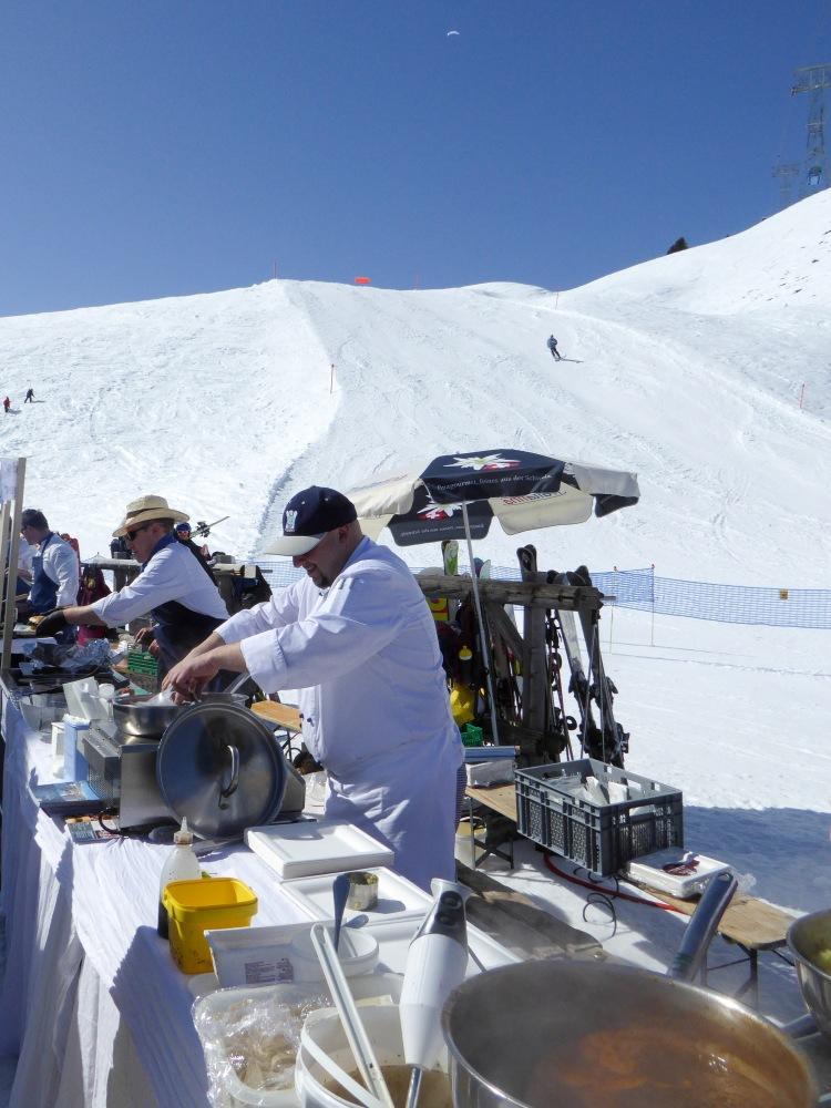 Arosa kochen im Skigebiet