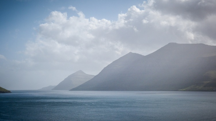 Faroe Islands Kunoy Färöer Inseln Fjord