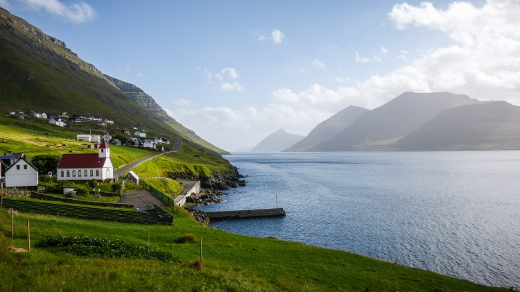 Faroe Islands Kunoy Fraueninsel Färöer Inseln