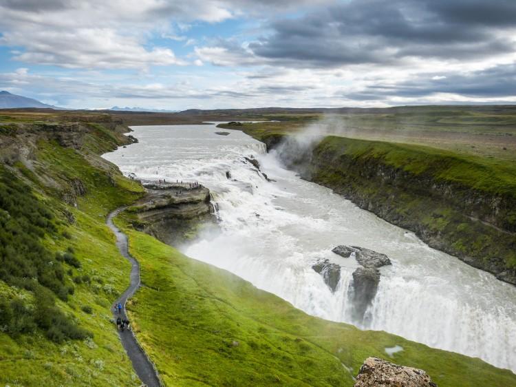 Gullfoss Iceland Wasserfall