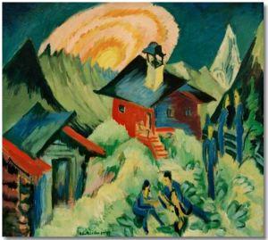 Mondaufgang auf Stafelalp - Ernst Ludwig Kirchner