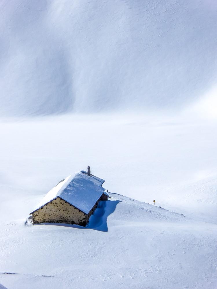 Alphütte Winter Lenzerheide