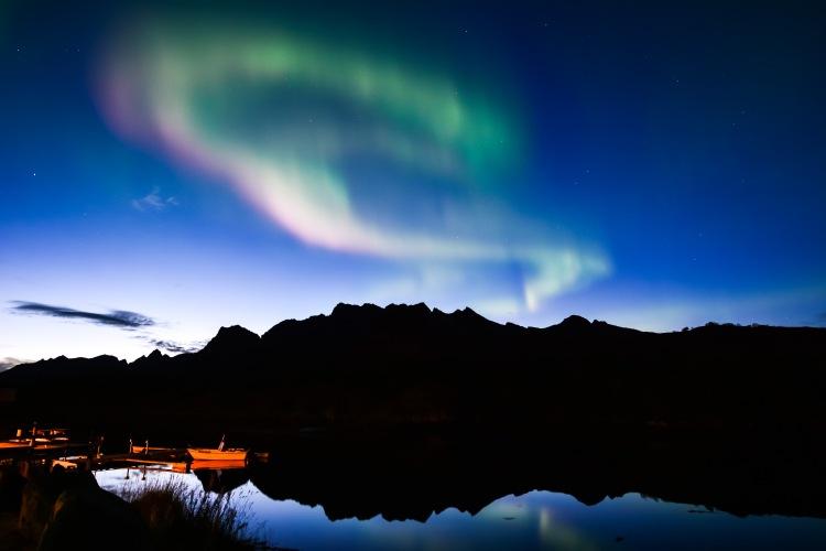 Polarlicht Lofoten Norwegen