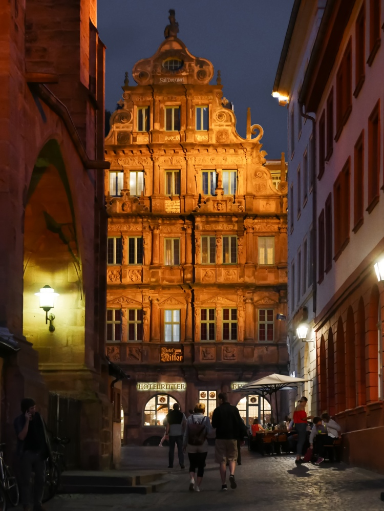 Haus zum Ritter, Heidelberg, Barock, Hotel, Germany, Altstadt, Old Town