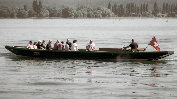 historisches Bodensee Schiff Oldtimer Segischiff Ermatingen Segner Segmer Lädine Fischerei Gangfisch