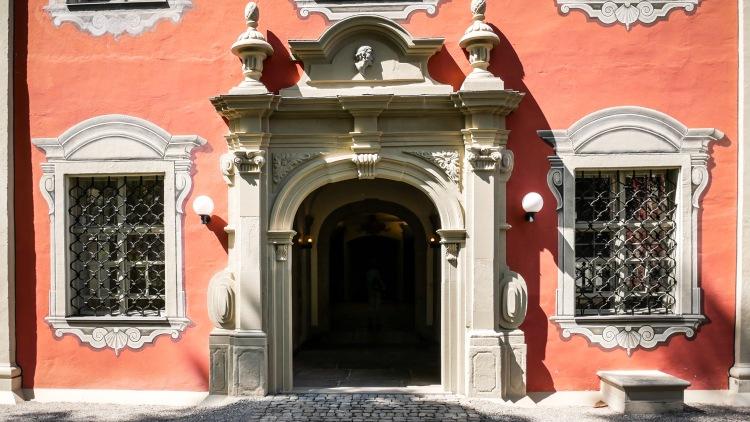 Eingang Marstall Pferdestall Schloss Salem Kloster