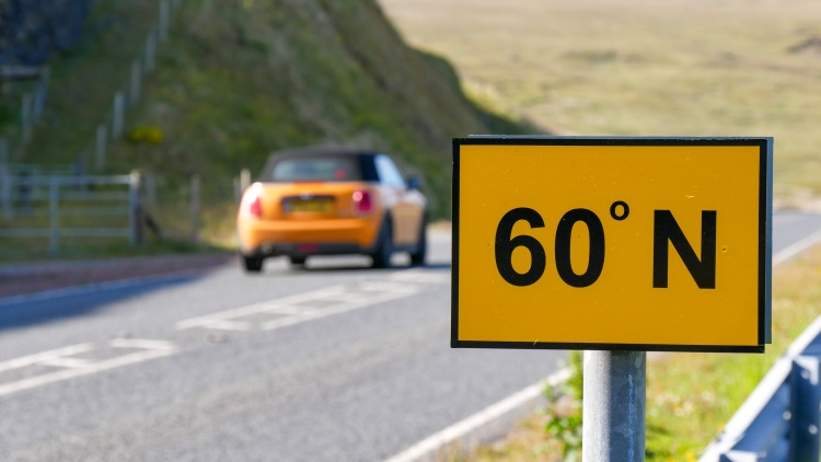 Shetland Sechzig Grad Nord 60